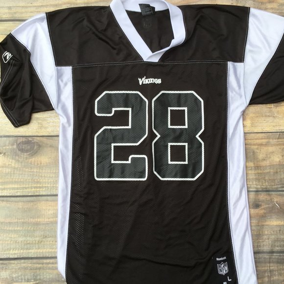 black and white adrian peterson jersey